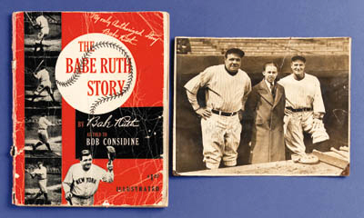 A SIGNED COPY OF THE BABE RUTH