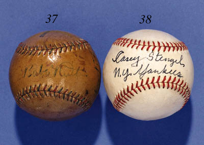 BABE RUTH AND LOU GEHRIG SIGNE