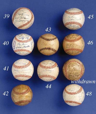 1947 AUTOGRAPHED YANKEES TEAM