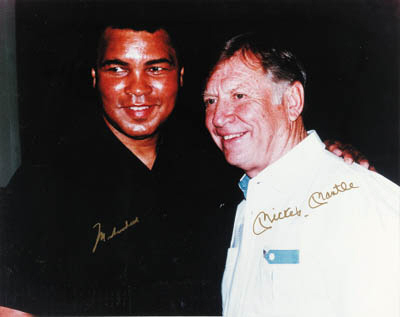 ALI AND MANTLE SIGNED PHOTO