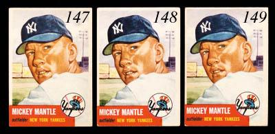 1953 & 1956 TOPPS MICKEY MANTL