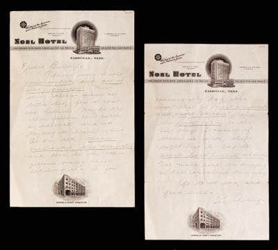 LOU GEHRIG HANDWRITTEN TWO-PAG