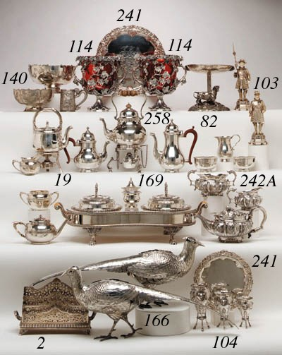 A SILVER-PLATED SUPPER SERVICE