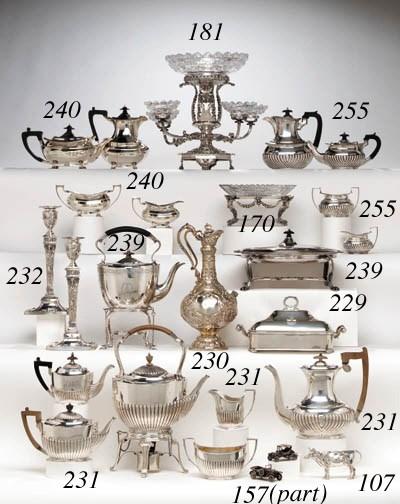 A PAIR OF VICTORIAN GLASS-MOUN