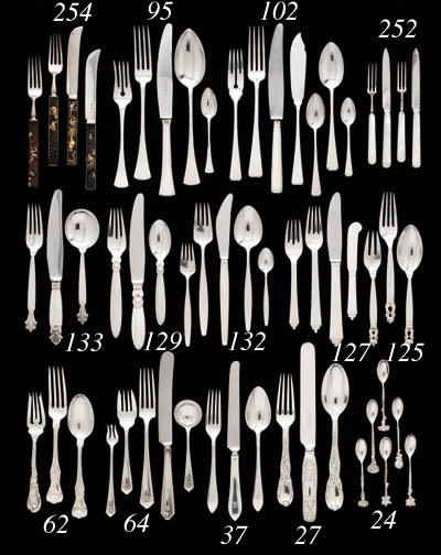 A 24-PIECE ENGLISH SILVER AND