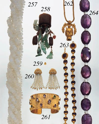AMETHYST AND ROCK CRYSTAL NECK
