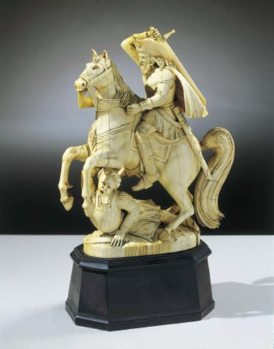 A DIEPPE IVORY FIGURAL GROUP O
