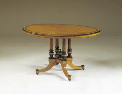 A VICTORIAN SATINWOOD AND PARC