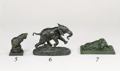 A FRENCH BRONZE STUDY OF A CAT