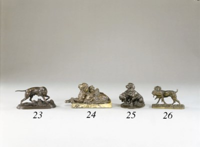 A French bronze dog study, ent