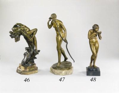 A German bronze figure of Dian
