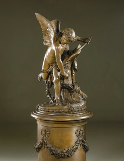 A French bronzed plaster figur