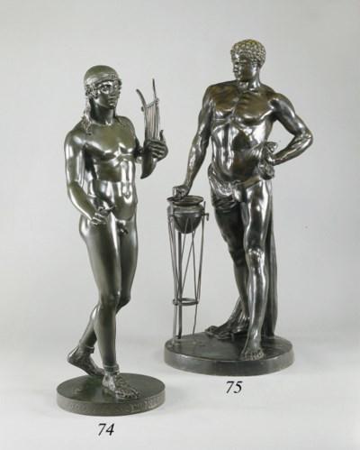 A German bronze figure of a cl