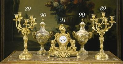 A FRENCH ORMOLU MANTEL CLOCK