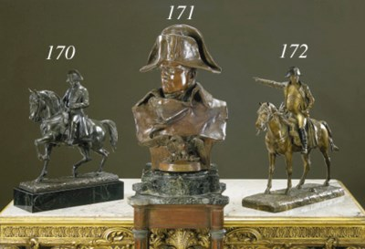 An Italian bronze equestrian p