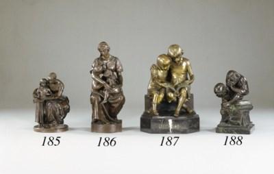 A German bronze figure of a ch