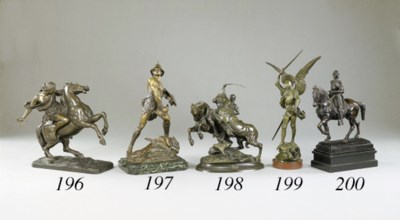 A French bronze group of a Rom