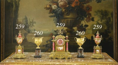 A FRENCH ORMOLU AND SEVRES-STY