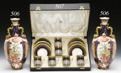 A BOXED SET OF SIX SILVER-MOUN