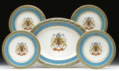 A ROYAL WORCESTER 'JEWELLED' T