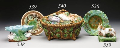 A MINTONS MAJOLICA OVAL GAME P