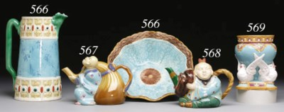 A ROYAL WORCESTER MAJOLICA TUR