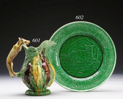 A GROUP OF FIVE MAJOLICA PLATE