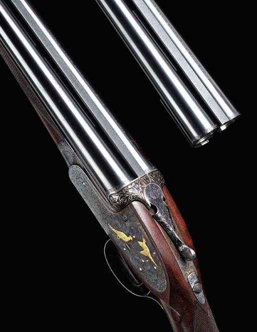 A GOLD INLAID 16 BORE (2¾IN.)