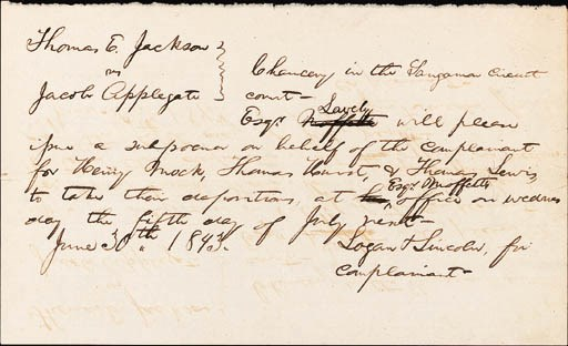 LINCOLN, Abraham. Autograph ma