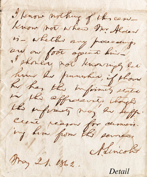 LINCOLN, Abraham, President. A