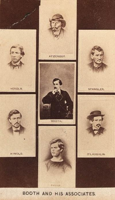 [BOOTH, John Wilkes]. Carte-de