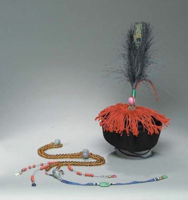A MANDARIN HAT AND NECKLACE