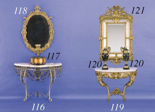 A PAIR OF GILT-BRONZE-MOUNTED