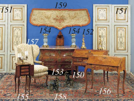 A LOUIS XV STYLE ROSEWOOD AND