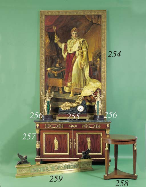 AN EMPIRE STYLE ORMOLU AND PAT