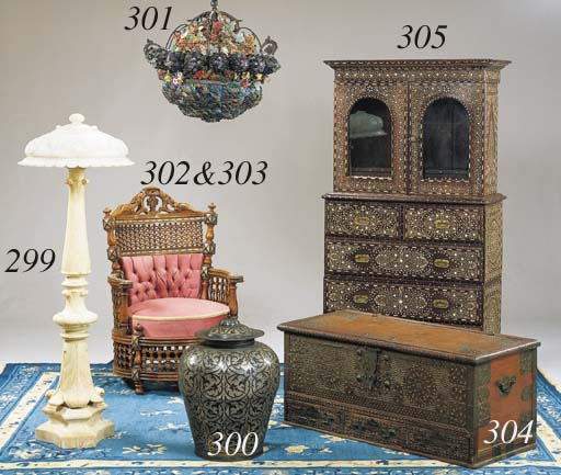 A CONTINENTAL PATINATED, GILT-
