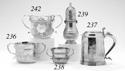 A GEORGE I SILVER CAUDLE CUP