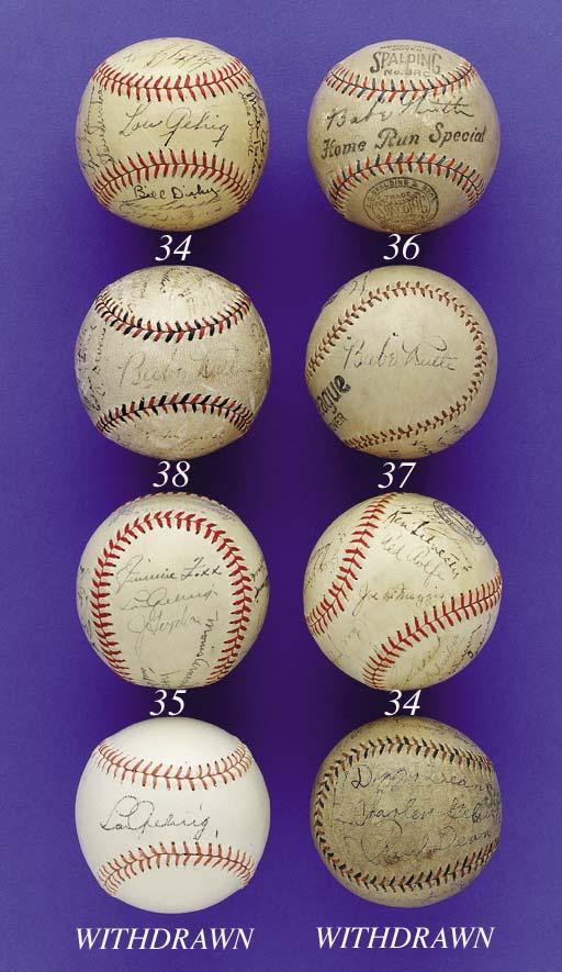 1932 NEW YORK YANKEES TEAM SIGNED BASEBALL
