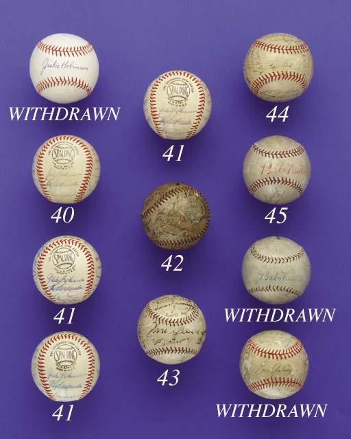 1930 PHILADELPHIA A'S TEAM SIGNED BALL