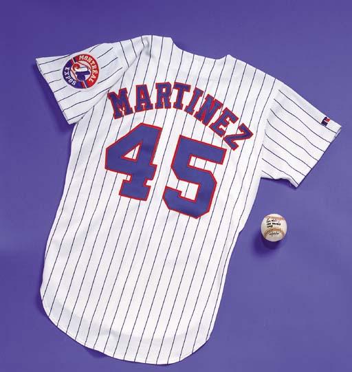 new arrival 59de7 80635 PEDRO MARTINEZ 1995 GAME WORN EXPOS HOME JERSEY | Christie's