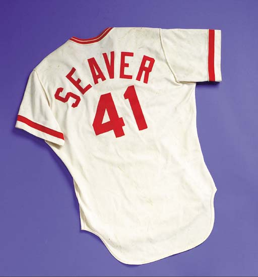 newest 82dd2 7fff6 TOM SEAVER 1980 GAME WORN CINCINNATI REDS HOME JERSEY ...