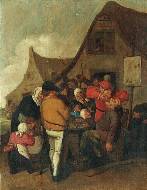 Circle of Adriaen Brouwer (Oud