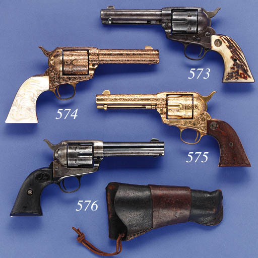 A .38 COLT SINGLE ACTION ARMY