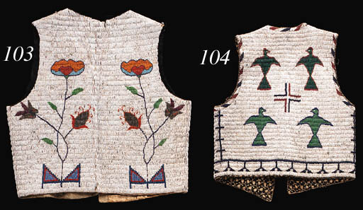 A SIOUX BEADED HIDE VEST
