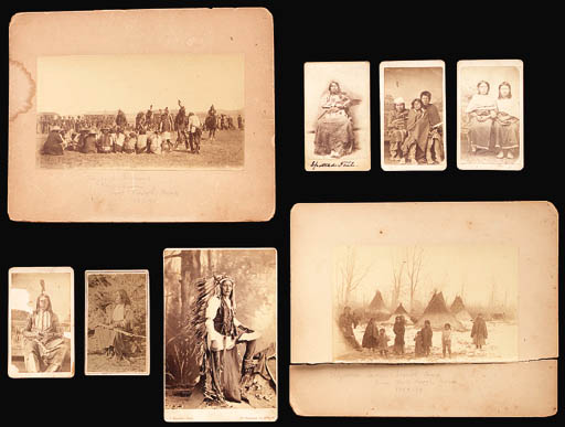 A GROUP OF EIGHT PHOTOGRAPHS O