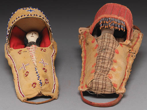 TWO APACHE DOLL CRADLE BOARDS