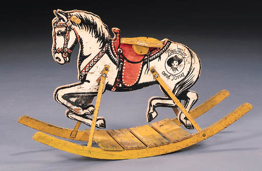 TOM MIX AND TONY CHILD'S RIDING TOY BY THE MENGEL COMPANY