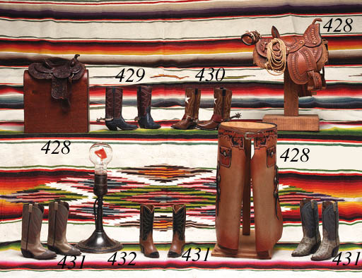 A PAIR OF MINIATURE BOOTS TOGE
