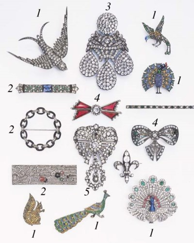 A GROUP OF PASTE JEWELRY