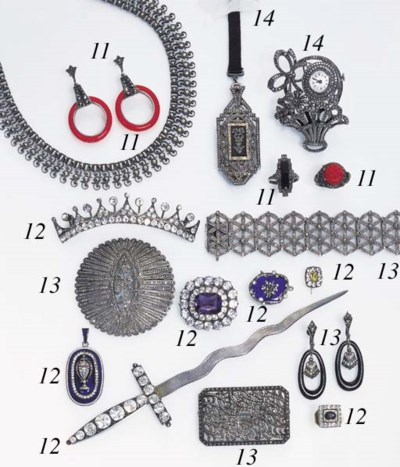 AN ASSORTED GROUP OF MARCASITE